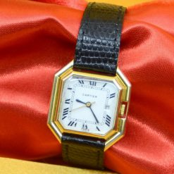Cartier Watch solid 18K Yellow Gold w/Date