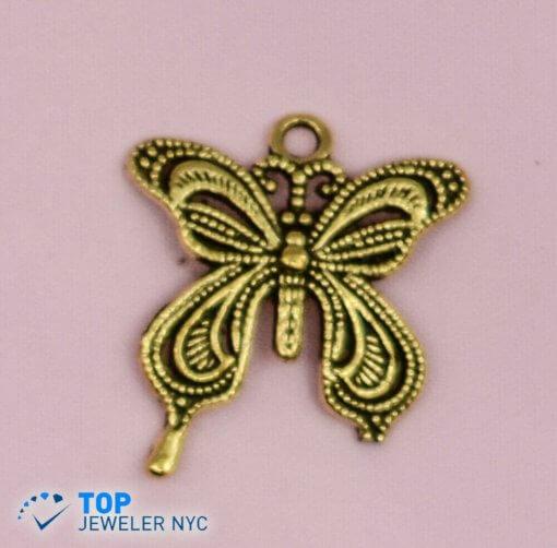 Butterfly Shape steel Pendant Gold plated.