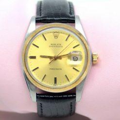 Rolex OysterDate precision two tone Watch w/Date