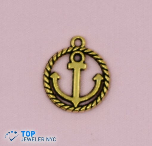 Anchor Shape steel Pendant Gold plated.