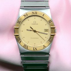 Omega Constellation Date Two Toned Gold and SS Watch
