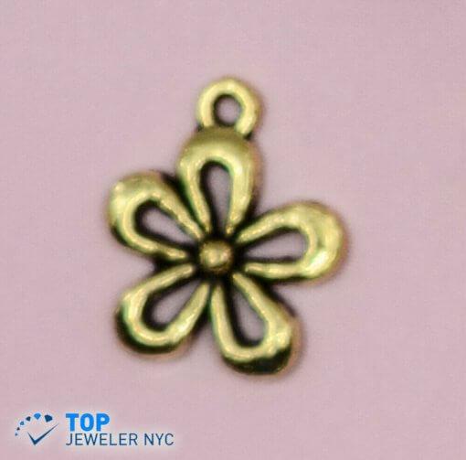Flower Shape steel Pendant Gold plated.