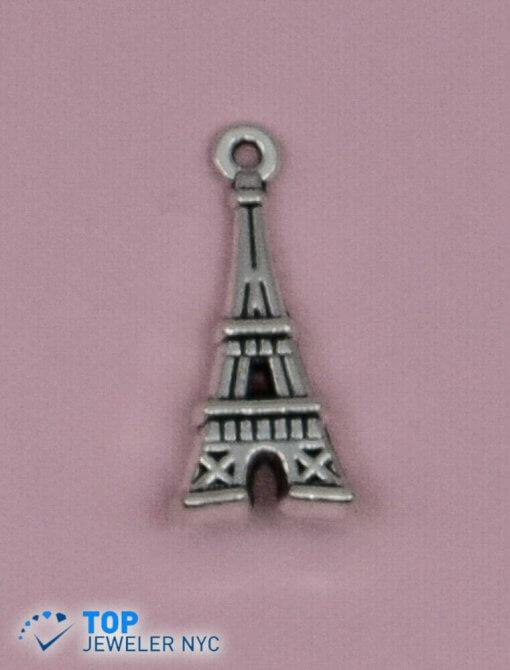 Eiffel Tower steel Pendant Silver plated.