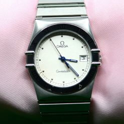 Omega Constellation Stainless Steel Watch with White Dial