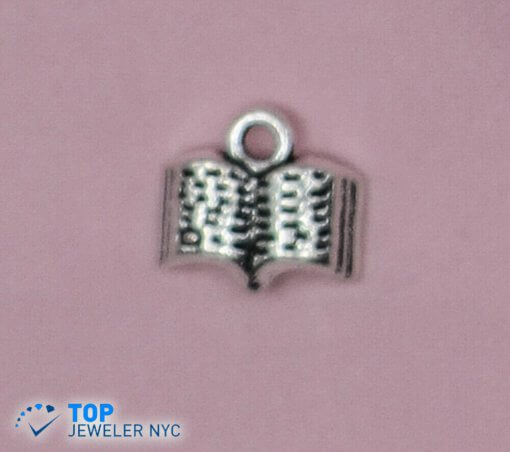 Book steel Pendant Silver plated.