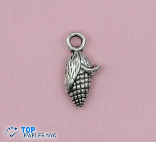 Corn Shape steel Pendant Silver plated.