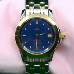 Omega Seamaster Automatic Chronometer SS & 18K YG w/Date