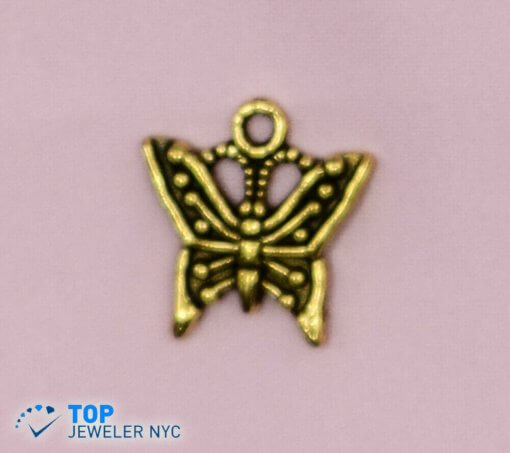 Butterfly steel Pendant Gold plated.