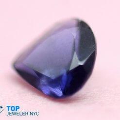 Natural Iolite gem stone Pear shape Purple Velvet