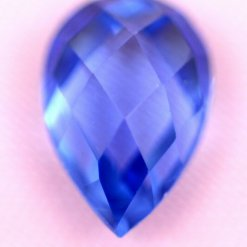 Lab-Created loose Tanzanite, excellent cut Teardrop shape Blue