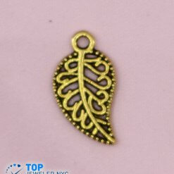 Leaf Shape steel Pendant Gold plated.