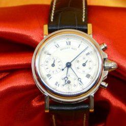 Breguet 4623 Watch 18K WG w/Date, 3 sub-dials. Chronographe Automatique & BOX