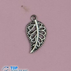 Leaf Shape Steel Pendant Silver plated.