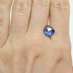 Tanzanite, excellent cut 3.50 ct Lab-Created loose stone,double sided chess cut