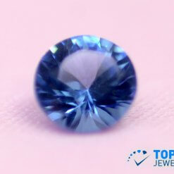 Lab-Created loose Tanzanite, excellent cut Round shape Blue