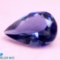 Natural Iolite gem stone Teardrop shape Purple Velvet