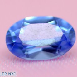 Lab-Created loose Tanzanite, excellent cut Oval shape Blue.