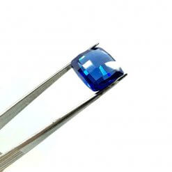 Tanzanite,excellent cut 16.5 ct Lab-Created loose stone,double sided chess cut