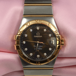 Omega Constellation 18K Rose gold & Stainless Steel w/Diamonds, Date