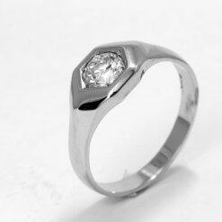 14K White Gold Ladies Ring w/ Diamonds approx 0.75 ct Size 9.5 RN10-0027