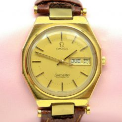 Omega Seamaster Watch two tone w/Day,Date
