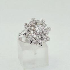 14K White Gold Ladies Ring w/ Diamonds approx2.00 ct Size 6.25