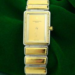 Ladies Vacheron Constantin Harmony 18K Yellow Gold S/S Diamond Bezel Watch