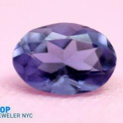 Natural Iolite gem stone Oval shape Purple Velvet